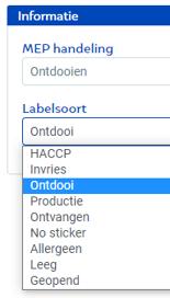 MEP labelsoort