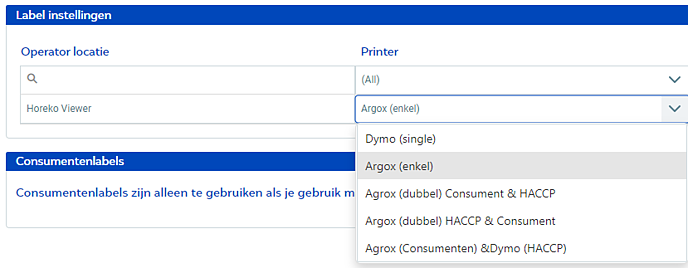 Printer instelling