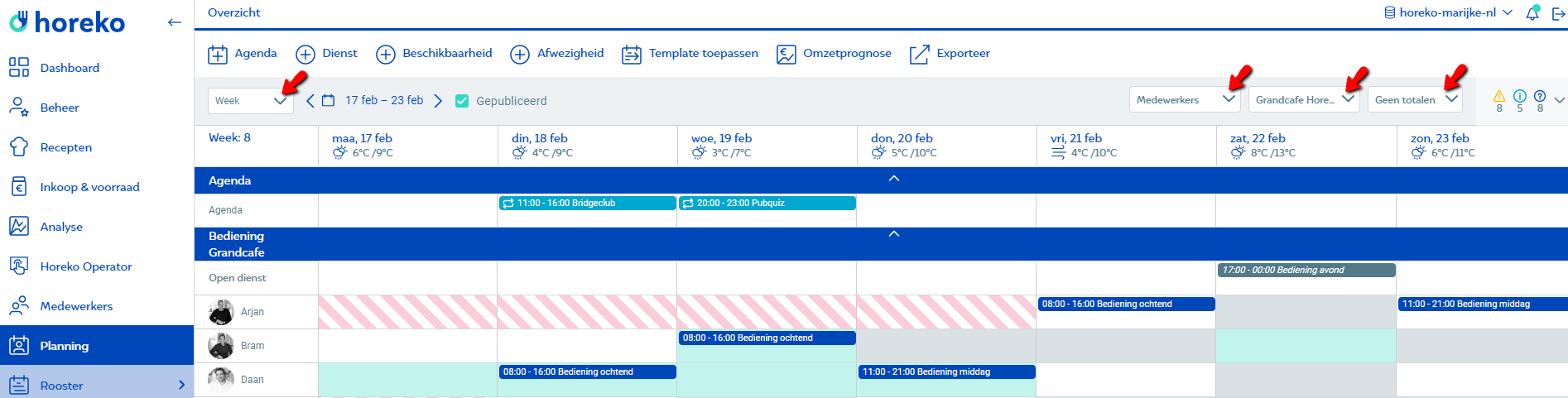Rooster_weergaves